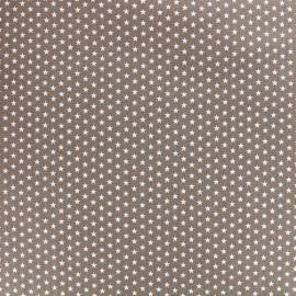 Tissu Poppy Graphics Stars - blanc/brun x 10cm