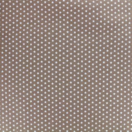 Poppy cotton fabric Graphics Stars - white/light brown x 10cm