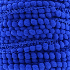 Little pompom braid trimming Color - sapphire blue x 1m