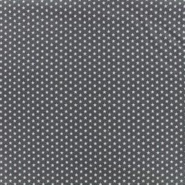 Tissu Poppy Graphics Stars - blanc/gris x 10cm