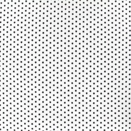 Poppy cotton fabric Graphics Stars - black/white x 10cm
