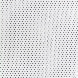 Poppy cotton fabric Graphics Stars - anthracite/white x 10cm