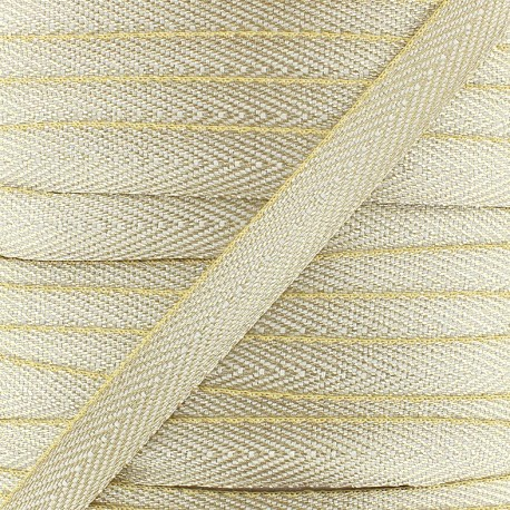Twill Lurex ribbon - gold x1 m