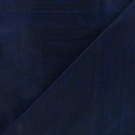 Tissu soie sauvage - bleu marine x 10cm