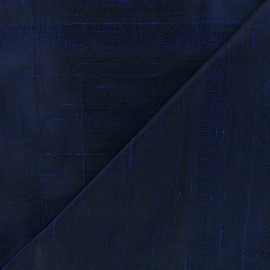 Wild Silk Fabric - navy blue x 10cm