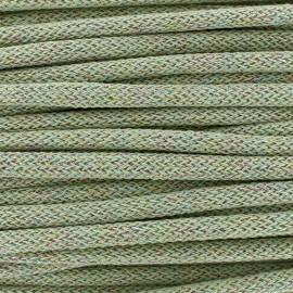 Cordon tricotin irisé 10mm - vert clair x 1m