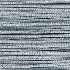 Cordon tricotin irisé 4mm - bleu clair x 1m