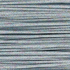 Iridescent tricotin cord 4mm - light blue x 1m
