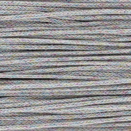 Iridescent tricotin cord 4mm - white x 1m
