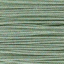 Cordon tricotin irisé 4mm - vert-clair x 1m