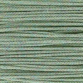 Iridescent tricotin cord 4mm - light-green x 1m