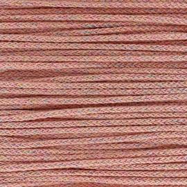 Cordon tricotin irisé 4mm - corail x 1m