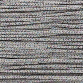 Iridescent tricotin cord 4mm - taupe x 1m