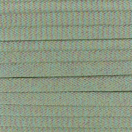 Ruban sergé irisé lurex - vert clair x 1 m
