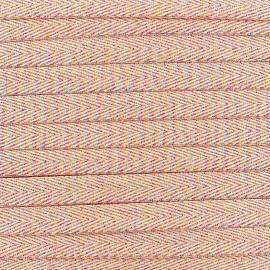 Twill iridescent lurex ribbon - coral x 1m
