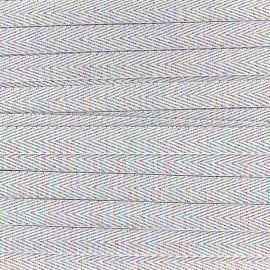 Ruban sergé irisé lurex - blanc x 1 m