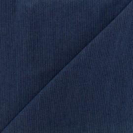 Tissu viscose chambray denim rayures - marine x 10cm