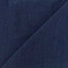 Viscose chambray fabric Denim stripes - navy x 10cm