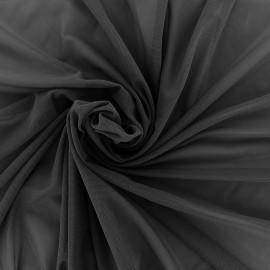 Elastic tulle fabric - black x 1m