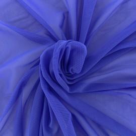 Elastic tulle fabric - navy x 10 cm