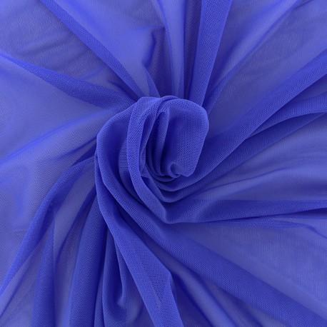 Elastic tulle fabric - navy x 1m