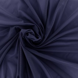 Elastic tulle fabric - dark navy x 10 cm