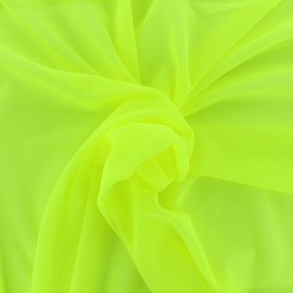 Elastic tulle fabric - yellow neon x 10 cm