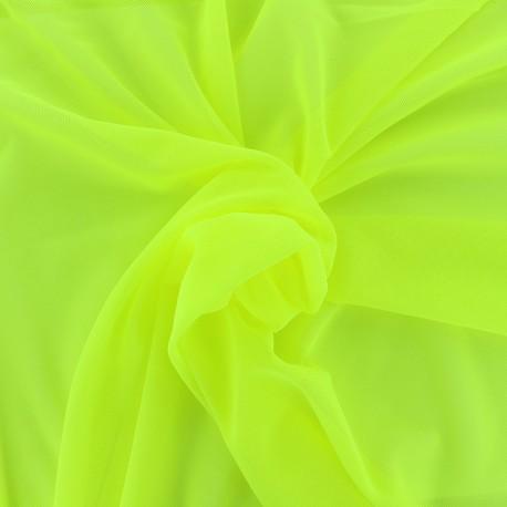 Elastic tulle fabric - yellow neon x 1m