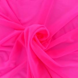 Elastic tulle fabric - pink neon x 10 cm