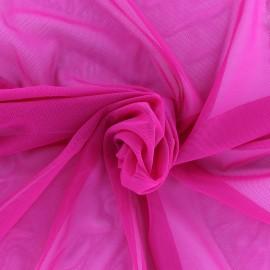Elastic tulle fabric - fuchsia  x 10 cm