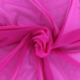 Elastic tulle fabric - fuchsia x 1m