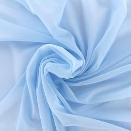 Elastic tulle fabric - sky x 1m