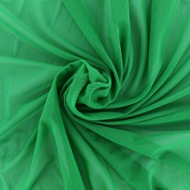 Elastic tulle fabric - green x 1m