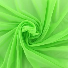 Elastic tulle fabric - light green x 1m
