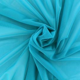 Elastic tulle fabric - azure x 10 cm