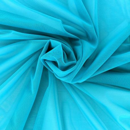 Elastic tulle fabric - turquoise x 1m