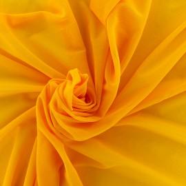 Elastic tulle fabric - mango x 10 cm