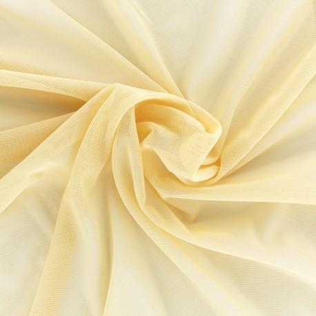 Elastic tulle fabric - cream x 1m