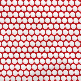 Percale cotton Fabric Pois - red x 10cm