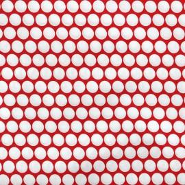 Tissu percale de coton grande largeur Pois - rouge x 10cm