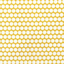Tissu percale de coton grande largeur Pois - jaune x 10cm