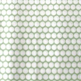 Tissu percale de coton grande largeur Pois - vert clair x 10cm