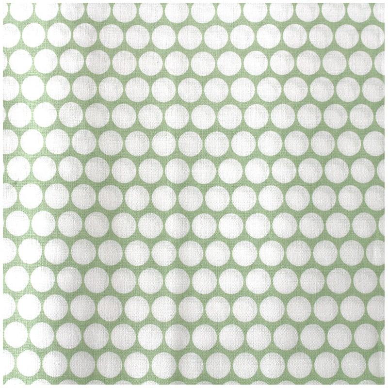 tissu percale de coton grande largeur pois vert clair x 10cm ma petite mercerie. Black Bedroom Furniture Sets. Home Design Ideas