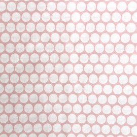 Percale cotton fabric (3m) Pois - light pink x 10cm
