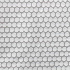 Tissu percale de coton grande largeur Pois - gris clair x 10cm