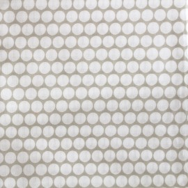 ♥ Only one piece 20 cm X 300 cm ♥ Percale cotton fabric (3m) Pois - light taupe