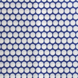 ♥ Coupon 130 cm X 300 cm ♥ Tissu percale de coton grande largeur Pois - navy