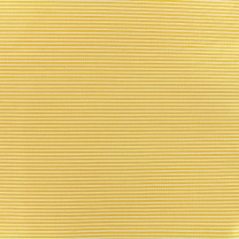 Percale cotton fabric (3m) Rayures - yellow x 10cm