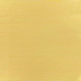 Tissu percale de coton grande largeur Rayures - jaune x 10cm