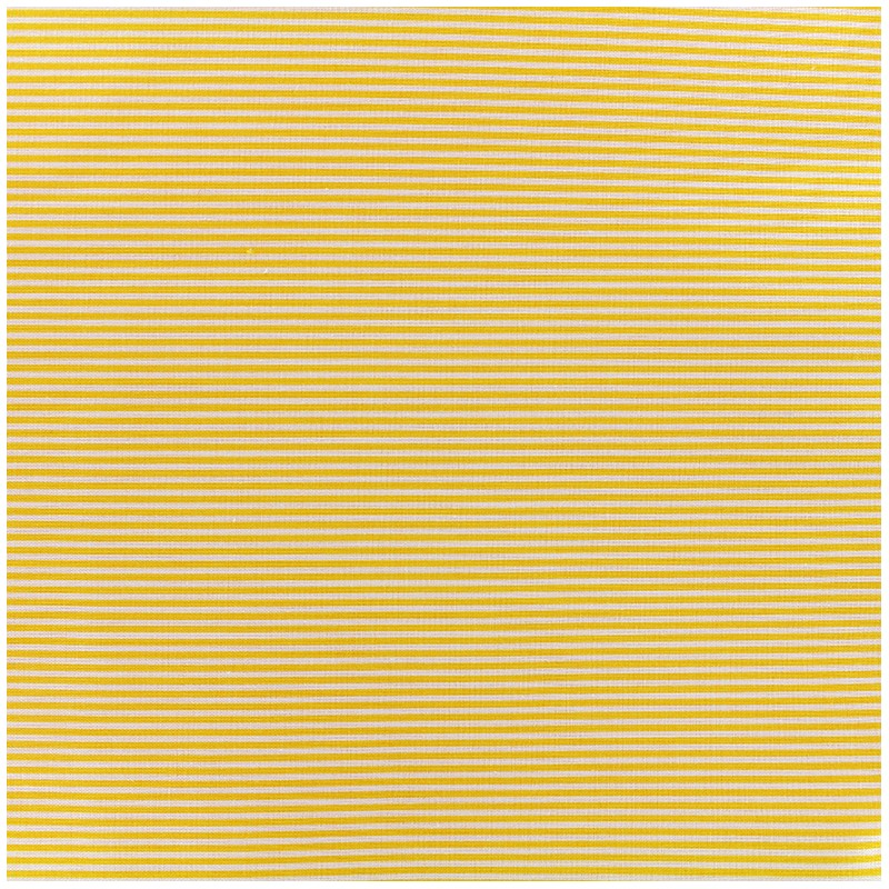 tissu percale de coton grande largeur rayures jaune x 10cm ma petite mercerie. Black Bedroom Furniture Sets. Home Design Ideas
